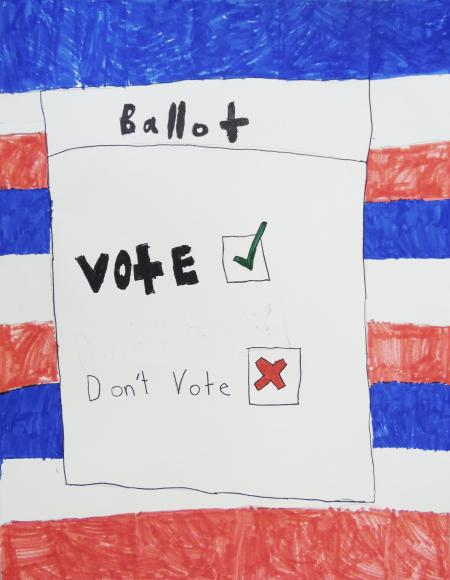 Red,-white,-and-blue-striped-background-with-a-drawing-of-a-ballot-in-the-foreground.-