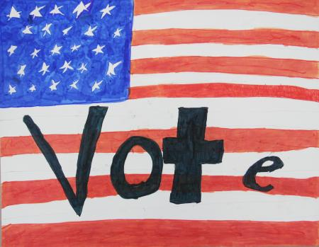 Drawing-of-an-American-flag-in-the-background-and-the-word-'vote'-in-black-in-the-foreground.