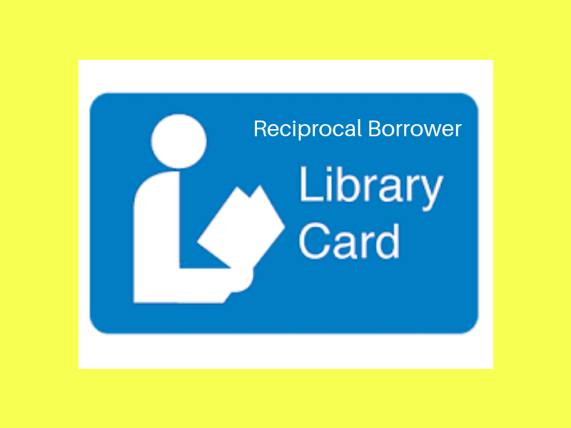 Reciprocal borrower library card image