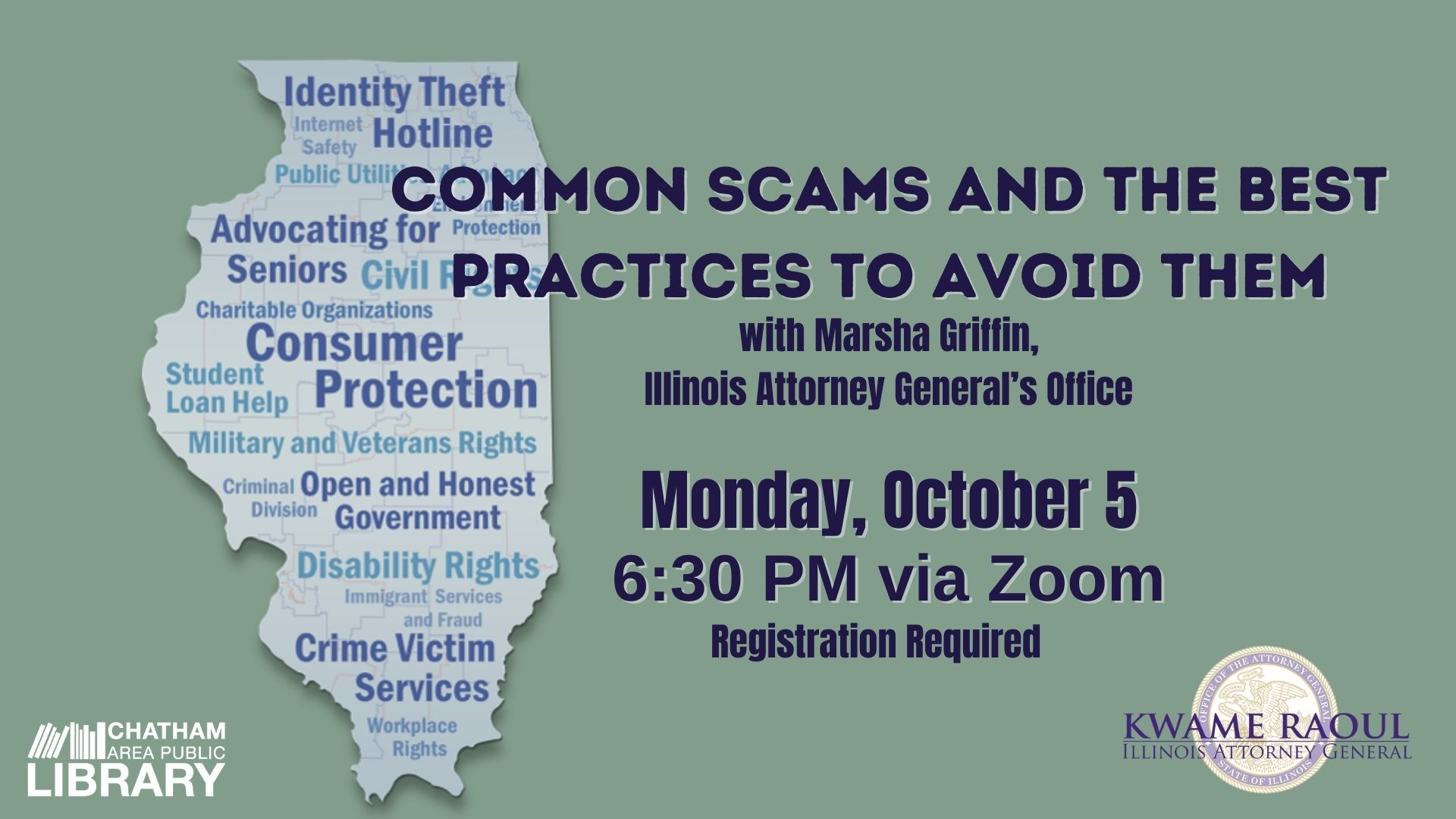 Chatham Area Public Library to Virtually Host a Presentation on Common Scams and How to Avoid Them