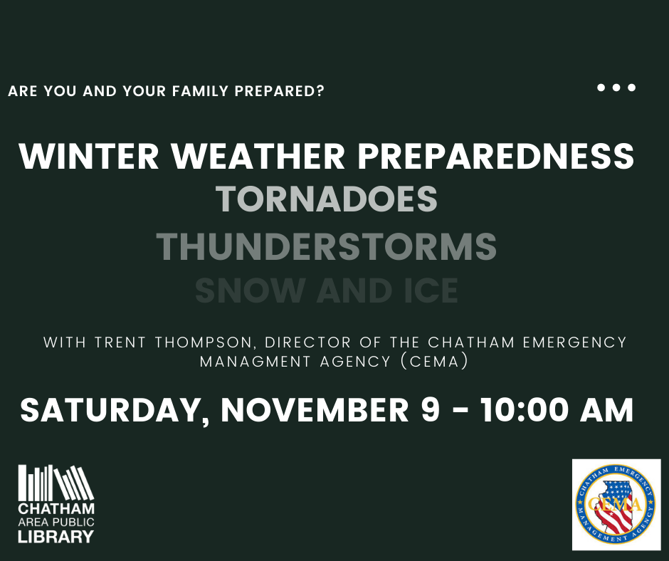 Chatham Area Public Library to Hold Winter Weather Preparedness Class